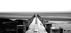 Town beach (Nikon Pentax Shooter) Tags: ocean new old sea england bw white seascape black landscape 50mm nikon surf connecticut tide nikkor saybrook d610