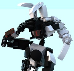 kuro 12 (pb0012) Tags: black brick bunny robot lego kuro fembot android mecha mech bunnygirl robo moc ldd mechanoid pb01