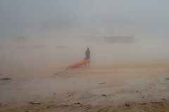 Canoe to the Mist (pdjenkins54) Tags: sea mist beach island islands kayak canoe canoeist guernsey channel herm