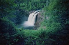 (facenorth) Tags: camera longexposure ontario nature mediumformat waterfall hiking exploring toycamera 120film plastic wilderness lakesuperior wawa saultstemarie agawa c41 colorfilm kodakportra160 agawafalls holga120wpc