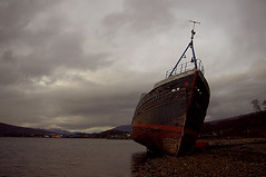 The Corpach Wreck Bow View (Just Photographs) Tags: seascape water clouds landscape outdoors mackerel scotland wooden ship pentax outdoor historic historical wreck shipping fishingboat derelict trawler herring lochaber lochlinnhe corpach pentaxkr