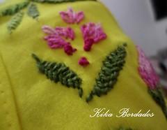 KikaBordados Kika  Krauss 097 (Kika Bordados by Angelica Krauss) Tags: pink flowers flores handmade embroidery laranja crochet tshirt amarelo bordados manualidades croche embroider feitomo camisetabordada camisetabordadamo bordadosfeitomo kikabordadoskikakrauss