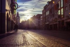 Freiburg 'Kajo' Street #2 (der LichtKlicker) Tags: street architecture germany fuji thomas strasse pedestrian area rails architektur fujifilm freiburg baden tramway strassenbahn breisgau schienen fotowalk sdbaden leuthard fusgngerzohne kaiserjosephstrase x100s