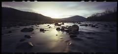 Morning on the River (DRCPhoto) Tags: pinhole 120film westvirginia fujifilm cheatriver nph400 lenslessphotography zeroimage612b