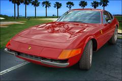 Ferrari 365 GTB/4 Daytona (1970's) (*Ken Lane*) Tags: red usa racecar geotagged automobile unitedstates florida ferrari voiture replica vehicle 1970s daytona sanibel carshow sportscar supercars topaz automvil karu frontend vendimia   italiancar  gtb4 vehculo vhicule ferraridaytona 365gtb islandstyle  3654 ferrari365gtb4daytona ferrari365   carscoffee worldcars carsandcoffee   ybel ch mba     topazfilter topazsimplify  topazsoftware buzsim buzsimfilter photoshopcs6  ferrari365gtbdaytona ferrari365gtbspyder 2075periwinkleway sancapmotorclub sanibelcaptivemotorclub  topazbuzsimeffect geo:lat=2643851380 geo:lon=8206781878 ferrari3654gtbdaytona