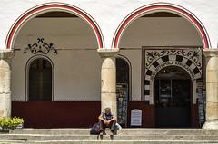 Alone (Manol Z. Manolov) Tags: travel people man person europe bulgaria rila pensioner rilamonastery