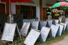 Drying handmade paper, Ban Xang Khong village near Luang Prabang, laos (travelingmipo) Tags: travel paper photo asia southeastasia village handmade traditional souvenir laos handwork luangprabang handcraft mulberry   louangphrabang      banxangkhong