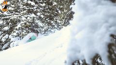 MJ @ #KidsPool (Snow Front) Tags: winter sun snow mountains clouds snowboarding cloudy sunny powder snowboarder freeride powpow deeppow loadedsnow