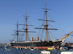 HMS Warrior (Wider World) Tags: england shop harbour hampshire portsmouth rigging royalnavy hmswarrior