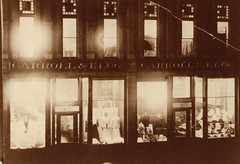 Carroll and Klug Store at Night