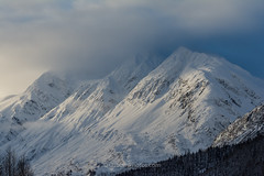Sunset on snow (wolphcry) Tags: mountain snow alaska valdez thompsonpass