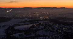 Winterpanorama Aalen (20.01.2016) (Hebe.Photography) Tags: schnee winter sunset snow cold zeiss evening abend raw sonnenuntergang sony carl kalt f4 dunkel aalen vario stativ tessar schn 2470 naturfreundehaus braunenberg ostalb a7r emount rthardt sel2470z ostalbskilift