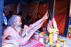 DSC05642 (kkfp) Tags: india color yoga fruit naked fire photography vishnu streetphotography covered sacred yogi ash maharashtra shiva sept baba sadhu saffron ashram naga mela offerings nashik 2015 kumbhmela mahakumbh