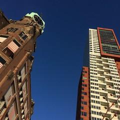 HNY & Monti (Hipstagirl 2011) Tags: urban holland architecture skyscraper rotterdam nederland montevideo kopvanzuid hotelnewyork architectuur wilhelminapier
