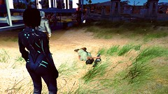 342 (Beth Amphetamines) Tags: wallpaper woman 3 black green beach grass army screenshot sand technology military united blowing redhead institute robots human jacket synth scifi states component cyborg bodysuit bomber commune defense commonwealth synthetic futuristic lizzy settlement fatigues advanced cybernetic kerrigan institutionalizing witcher nordhagen freeliving geralt fallout4 assaultron