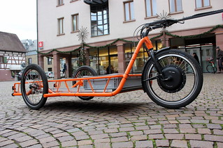 Carla Cargo Bicycle Trailer - orange - Detailed Picture