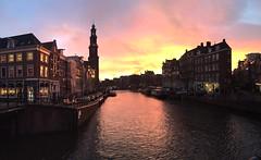 Amsterdam Jordaan (Thijs Van Der Linden) Tags: sunset sky amsterdam canal jordaan westertoren iphone