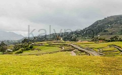 Overall View Of The Site Of Ingapirca (kalypsoworldphotography) Tags: travel sky people mountain cold green heritage tourism archaeology monument southamerica nature field rain architecture landscape temple site ecuador village cloudy altitude indian religion ruin culture landmark scene historic valley andes destination civilization paths agriculture hillside popular legend technique footpath fortress cuenca ingapirca archeological andean overall intiraymi canar