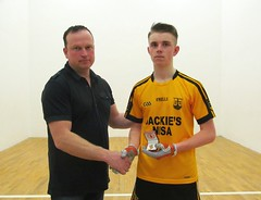 Boys U16 Final Winner Presentation Antoin Fox