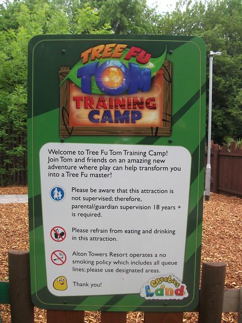 Tree Fu Tom Training Camp - Entrance Sign