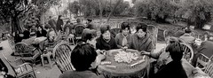 China (siggi.martin) Tags: china park people asia asien play many bamboo menschen chengdu boardgame viele spielen bambus brettspiel conviviality gesellig bamboochair geselligkeit stuh bambusstuhl chumminess lchair clubbable