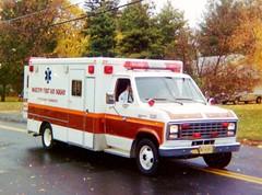 MFAS Ambulance 2291 in 1988 (JSF0864) Tags: ford ambulance rig horton marlton evesham firstaidsquad