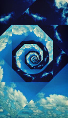 SkySpiral (Thought Knots Design) Tags: above sun black eye nature nova illustration photoshop sunrise photography one design thought all hole graphic space wave manipulation funky knot brain inner trail vision seeing funk third below outer minds scotia knots tkd singularity activation activate homonculus pineal