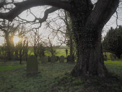 St.Botolph's Church - Stow Longa (davepickettphotographer) Tags: uk sunlight church graveyard village graves gb late cambridgeshire stbotolph stbotolphschurch stowlonga davepickettphotographer