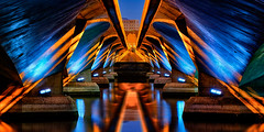 (Sunrider007) Tags: city bridge blue sea urban panorama abstract macro water architecture night marina sunrise canon river landscape lights bay singapore asia long exposure sony engineering estuary shore hour brilliant merlion 100l a7r