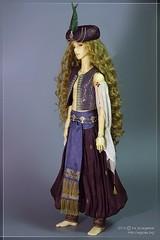 Arabian Prince (ira_scargeear1) Tags: grass outfit whispering prince romantic bjd arabian etsy harem