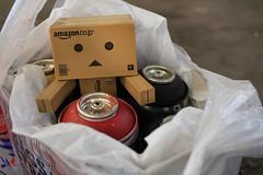 Danbo (Never A Dull Moment.) Tags: graffiti spraypaint yotsuba danbo amazoncojp boxman danboard cardbo