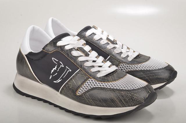 black grey grau jeans sneaker schwarz trussardi trussardijeans damensneakers 79s045
