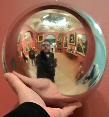 Escheresque (40% fnord) Tags: mirror orb escher dulwichpicturegallery lumia950xl