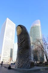 Le Pouce de Csar Baldaccini (escaledith) Tags: paris france tower art bronze buildings tour ladfense 1965 pouce csarbaldaccini oeuvredart sitetouristique