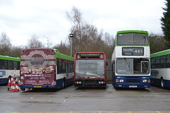 Trent Barton 1153 X685REC - 16 M214VSX (Will Swain) Tags: uk travel england bus english mill buses yard is britain derbyshire garage sheffield transport january vehicles trent tm vehicle depot barton 16 former 24th langley nottinghamshire lothian 214 1153 2016 bartons wellglade m214vsx x685rec