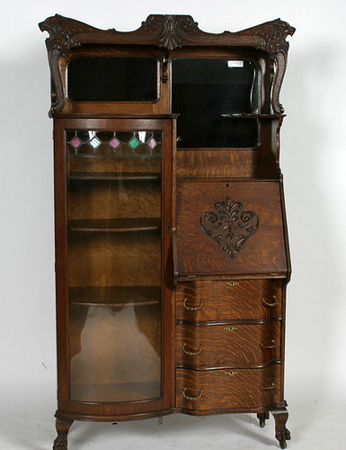 Oak Side by Side w/ Leaded Glass $522.50