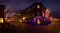 Magenta Evening (State of Decay) Tags: city colors lights licht nederland magenta tiel
