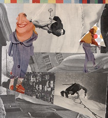 winter sports (kurberry) Tags: winter snow collage skiing skating cutpaste cutandpaste vintageephemera collageaday