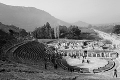 Amphitheater (withcamera) Tags: travel tourism turkey mediterranean amphitheater efes historicalsites celsuslibrary blackandwhitephotos 에페소 원형극장 셀수스도서관