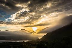 Cloud Symphony (*Capture the Moment*) Tags: sunset sun mountains green norway clouds island norwegen wolken insel berge grn sonne sonnenuntergnge lofoten wetter 2012 landschaften hurtigruten farbdominanz