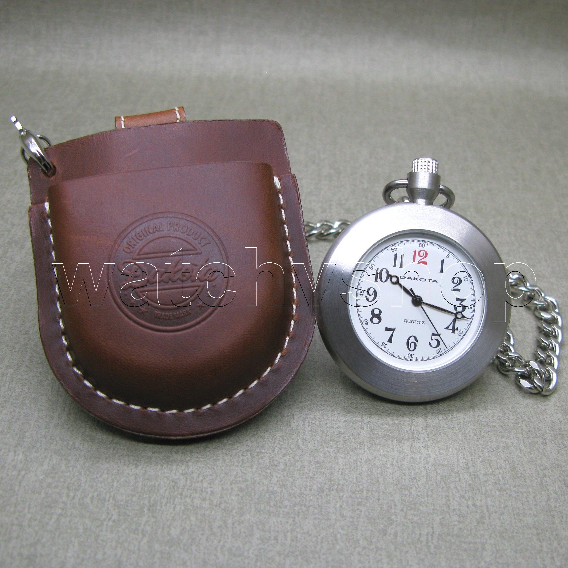 dakota stainless steel pocket leather pouch