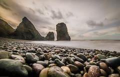 Trefor coastline (aronaled) Tags: ocean longexposure sea beach rocks cymru shoreline pebbles coastline northwales trefor