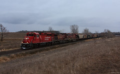 CP Work Train at Winger, MN (bkays1381) Tags: minnesota canadianpacific cp winger canadianpacificrailway cp2209