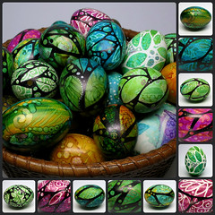 Painted Eggs (MandarinMoon) Tags: easter colorful handpainted eastereggs paintedeggs springdecor