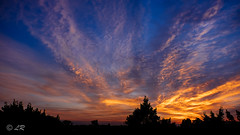 sky fire (lr1980) Tags: blue sky subject sunsetsunrise