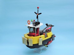 Tugboat 06 (JPascal) Tags: boat flying lego tugboat