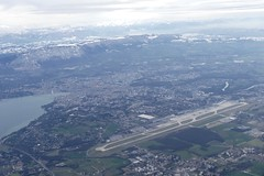 Geneva with airport and mountains Switzerland (roli_b) Tags: city lake mountains window plane lago see photo airport foto geneva geneve picture lac aerial berge flughafen bild leman jetdeau lakegeneva lacleman genf luftaufnahme genfersee gva