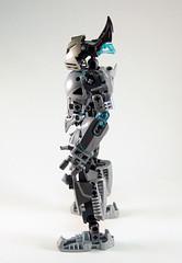 Toa Niretta - Side (0nuku) Tags: silver lego da deviant oc deviantart bionicle toa kakama selfmoc niretta