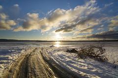 winter sunrise on the bay (Barbara A. White) Tags: winter ontario canada clouds sunrise landscape shoreline blueskies ottawariver woodlawn winterscape constancebay