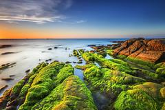 Tinduk Terongkongan, Kudat Sabah (Adly Wook) Tags: ocean longexposure blue red beach beautiful rock landscape photography outdoor bluesky malaysia mossy sabah leefilter rgnd